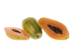 Papayas Isolated Stock Photography