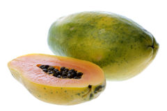 Papayas Isolated Stock Images