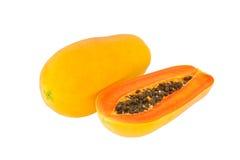 Papayas on white background Stock Image