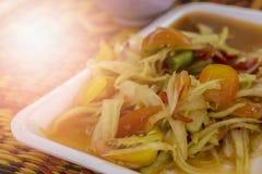 Papayasallad är bra mat Royaltyfri Foto