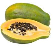 Papaye coupée en tranches Photos libres de droits