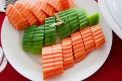 Papaye et melons image stock
