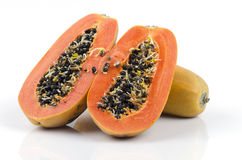 Papaye, papaye, melon d'arbre (carica papaya L.) Photos stock