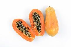 Papaye, papaye, melon d'arbre (carica papaya L.) Photographie stock libre de droits