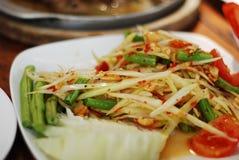 PAPAYE thaïlandaise SOM-Tam de salade Photographie stock libre de droits