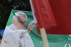 Pape Benedict XVI annoncent le support Photographie stock libre de droits