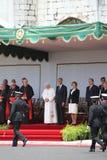 Pape Benedict XVI et Président Cavaco Silva Photos libres de droits