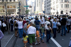 Pape dans NYC Photos stock