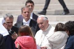 Pape Francis Portrait à Ville du Vatican Photo libre de droits