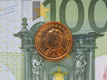 Pape Jean Paul II pièce de monnaie de 50 cents Photo stock