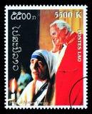 Pape John Paul Postage Stamp Photo stock