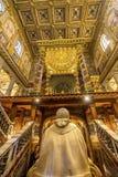 Pape Tomb Basilica Santa Maria Maggiore Rome Italy photographie stock libre de droits