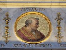 Pape Victor III Image libre de droits