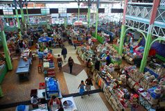 Papeete indoor market. Tahiti, French Polynesia Stock Image
