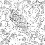 Papegaai in bloemen Royalty-vrije Stock Foto's