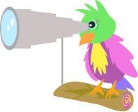 Papegaai met Telescoop Stock Afbeelding
