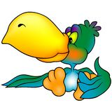 papegoja för blå green Arkivbild