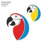papegoja macaw vektor illustrationer