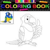 Papegojafärgläggningbok vektor illustrationer