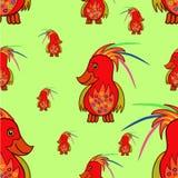 papegojor mönsan seamless vektor illustrationer