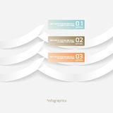 Papel abstracto Infografics del estilo de la papiroflexia Imagenes de archivo