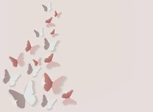 Papel abstrato fundo cortado da borboleta Ilustração do vetor ilustração royalty free