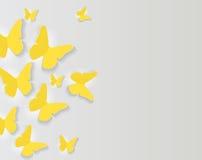 Papel abstrato fundo cortado da borboleta Ilustração do vetor ilustração stock