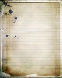 Papel acodado del cuaderno Imagen de archivo libre de regalías