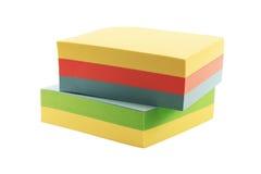 Papel adhesivo para las notas imagen de archivo