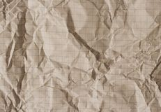 Papel ajustado arrugado viejo foto de archivo