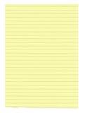 Papel alineado amarillo de la talla de XXXL Imagen de archivo libre de regalías
