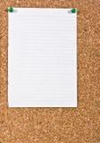 Papel alineado blanco Fotos de archivo