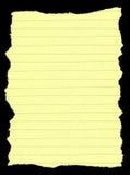 Papel alineado rasgado Imagen de archivo