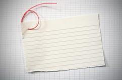 Papel alineado rasgado Imágenes de archivo libres de regalías