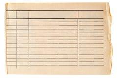 Papel alineado sucio de la vendimia Imágenes de archivo libres de regalías