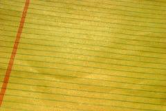 papel alinhado amarelo para fundos Fotografia de Stock Royalty Free