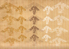 Papel alinhado Grunge com setas Imagem de Stock Royalty Free