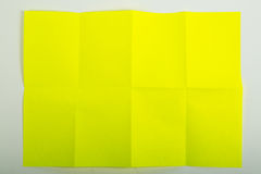Papel A4 amarelo Imagem de Stock Royalty Free