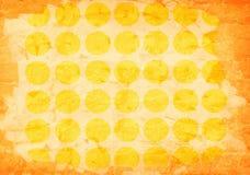 Papel amarelo envelhecido sumário Imagem de Stock
