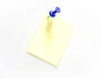 Papel amarelo para notas Imagens de Stock