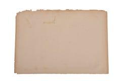 Papel amarilleado Imagen de archivo