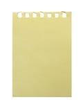 Papel amarillo. Foto de archivo