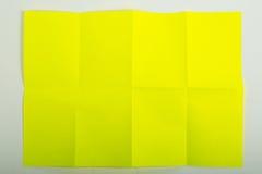 Papel amarillo A4 Imagen de archivo libre de regalías
