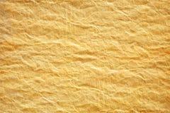 Papel amarillo arrugado Imágenes de archivo libres de regalías