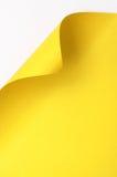 Papel amarillo del rizo Foto de archivo libre de regalías