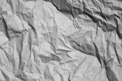 Papel amarrotado Foto de Stock