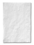 Papel amarrotado branco Imagem de Stock