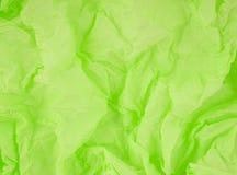 Papel amarrotado verde Fotos de Stock