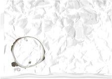 Papel amarrotado vetor com traço de copo Fotos de Stock Royalty Free