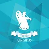 Papel Angel Christmas Fotografia de Stock